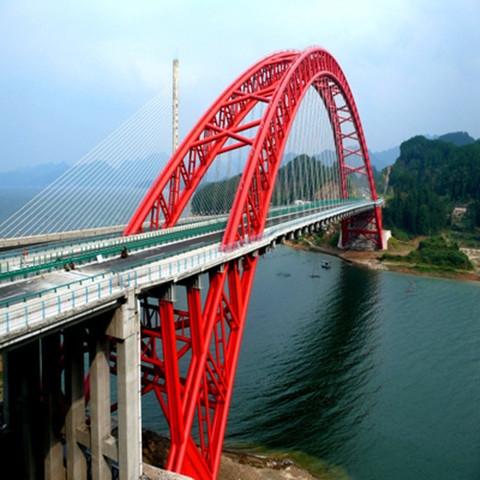 拱形钢结构桥梁