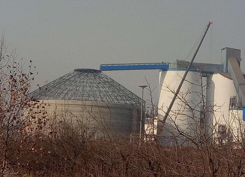 山西闻喜冀东水泥石灰棚钢结构工程